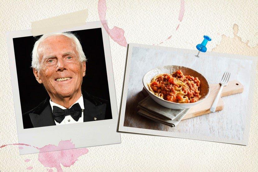 Giorgio Armani Favourite Food